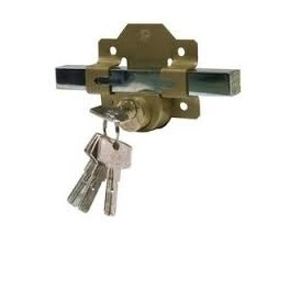 Cerradura llaves, tipo Fac. instalada en puerta peatonal