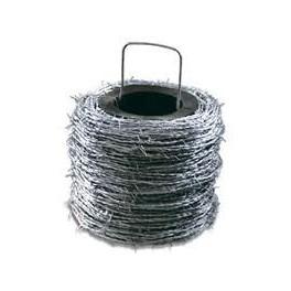 Rollo de alambre de púas galvanizado, 250 Metros.