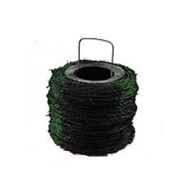 Rollo de alambre de púas galvanizado, 250 Metros. (Plastificado color Verde)