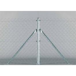 Pilar de esquina, para valla romboidal de 2m. alto. 2,40m. longitud. Completo, tensores y accesorios necesarios.