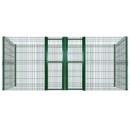 Últimas perreras modulares con paneles de malla electrosoldada (12,5 metros cuadrados) 2m/alto, con medianera.