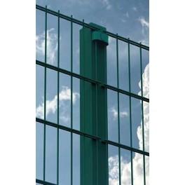 """Pilar para paneles """"Doble Valla"""" de 1,60m. de alta. Longitud total 2m. Completos, con abrazaderas para fijar los paneles."""