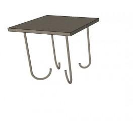 Placa anclaje para hormigonar. Indicada para soldar pilares metálicos (60x60cm/12mm-grosor) 4 patas soldadas.