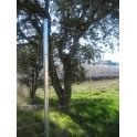 Pilar para vallas con malla Lindero de 1,5m. de alta. (Longitud total 1,90m)
