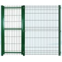 Panel con puerta para perrera modular. 2m/alto X 2,5m/ancho (Con puerta de 90cm).