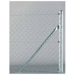 Pilar de arranque para valla romboidal de 2m. alto. 2,40m. longitud. Completo, tensores y accesorios necesarios.